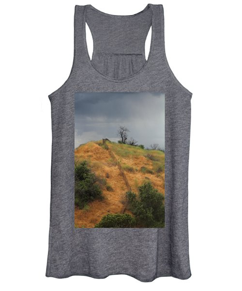Hill Divided By Fence Women's Tank Top