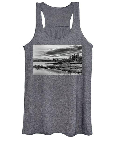 Historic Whitebog Landscape Black - White Women's Tank Top
