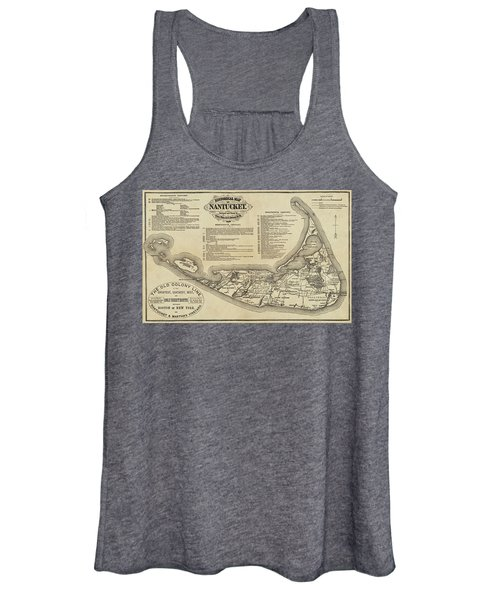 Historical Map Of Nantucket From 1602-1886 Women's Tank Top