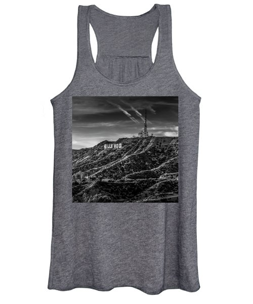 Hollywood Sign - Black And White Women's Tank Top