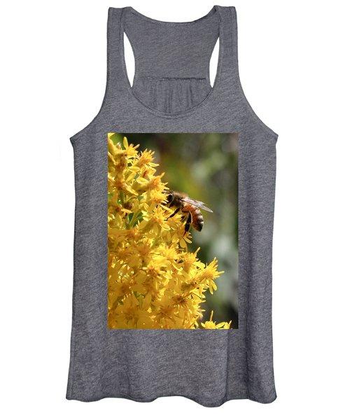 Honeybee On Showy Goldenrod Women's Tank Top