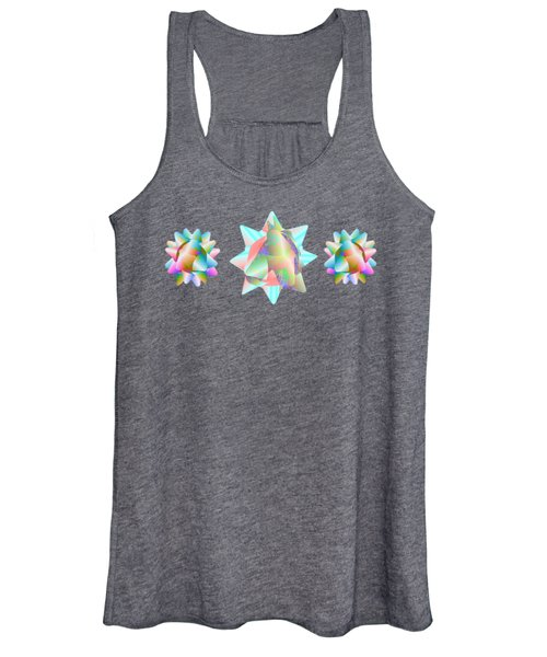 Horse Abstract Ribbon Bow Party Series Women's Tank Top