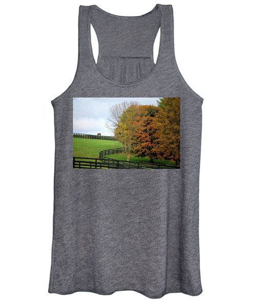 Horse Farm Country In The Fall Women's Tank Top