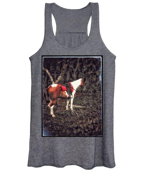 Horse In Red Women's Tank Top