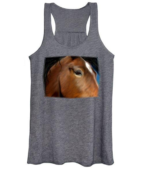 Horse Portrait Close Up Women's Tank Top