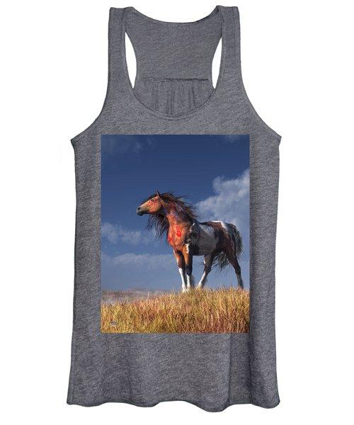 Horse With War Paint Women's Tank Top
