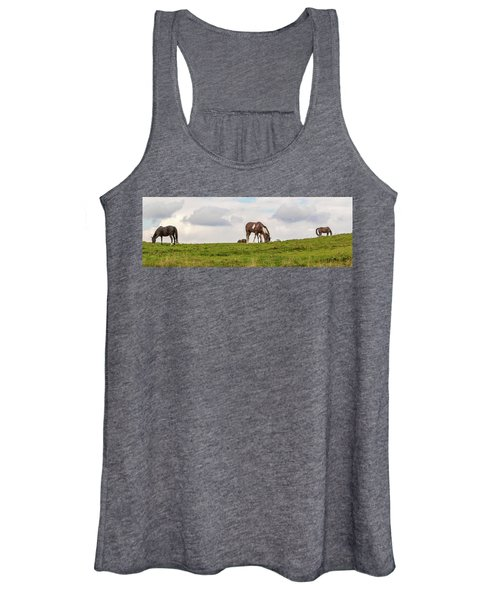 Horses And Clouds Women's Tank Top