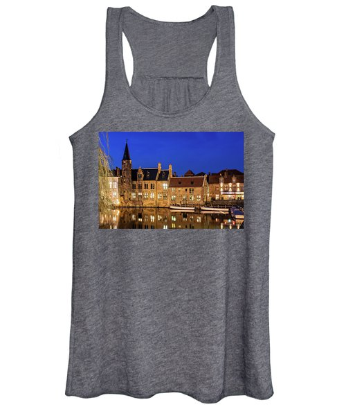 Houses By A Canal - Bruges, Belgium Women's Tank Top