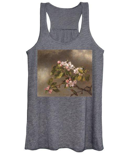 Hummingbird And Apple Blossoms Women's Tank Top