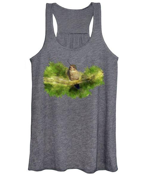Hummingbird In A Tree Women's Tank Top