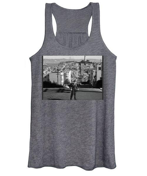 Humphrey Bogart Film Noir Dark Passage Telegraph Hill And Coit Tower San Francisco 1947 Women's Tank Top