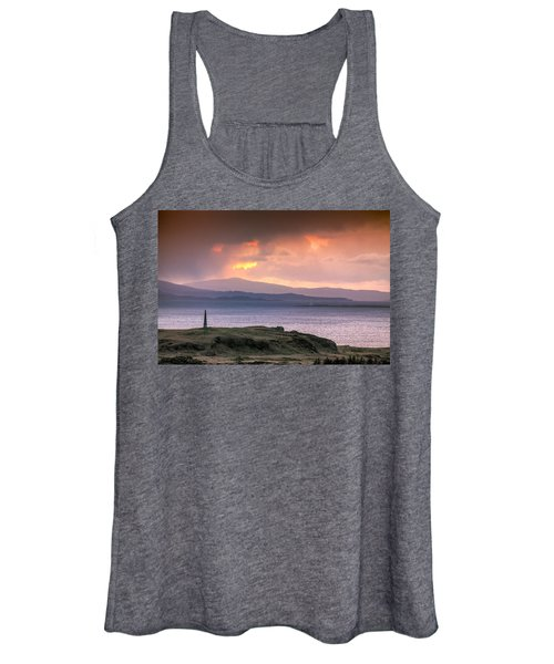 Hutcheson's Monument On The Isle Of Kerrera At Sunset Women's Tank Top