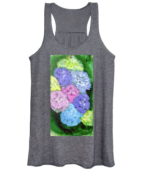 Women's Tank Top featuring the painting Hydrangeas by Loretta Nash