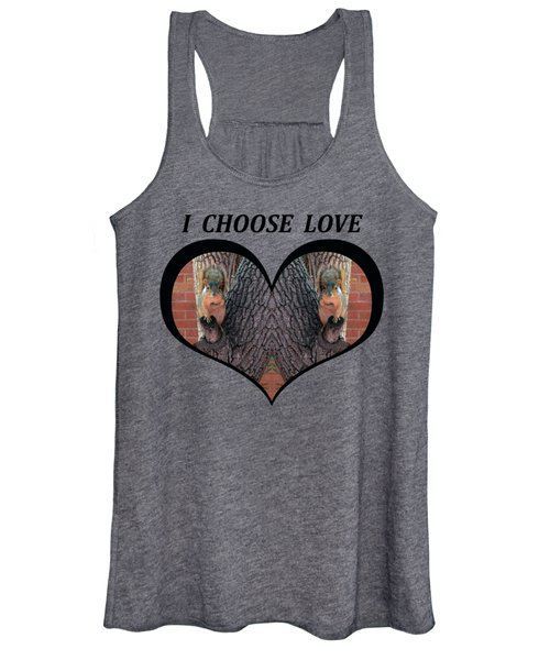 I Chose Love With Squirrels Hands On Hearts Women's Tank Top