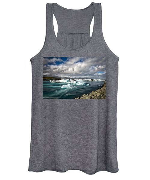 Icebergs Floating Out To Sea Women's Tank Top