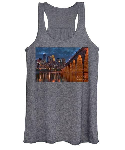 Iconic Minneapolis Stone Arch Bridge Women's Tank Top