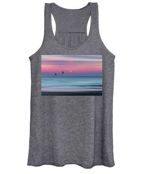 Impressionistic Sunset At Widemouth Bay, Bude, Cornwall, Uk.  Women's Tank Top