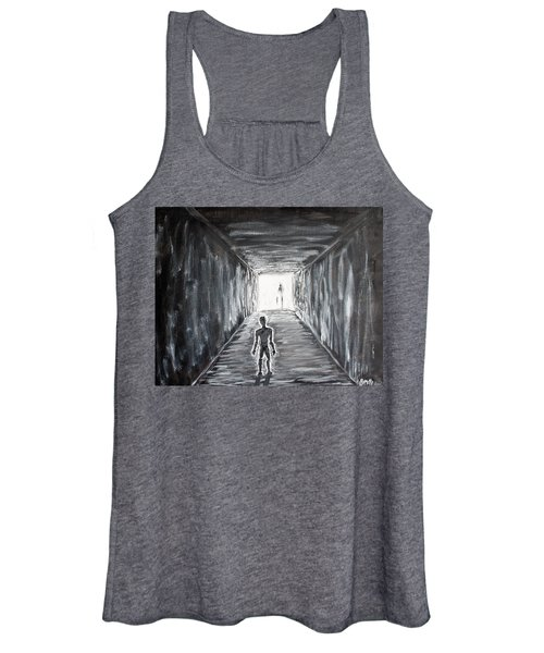 Women's Tank Top featuring the painting In The Light Of The Living by Antonio Romero