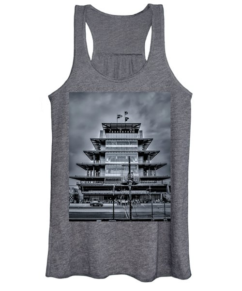 Indy 500 Pagoda - Black And White Women's Tank Top