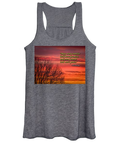 Women's Tank Top featuring the photograph Irish Blessing - May Every Sunrise... by James Truett