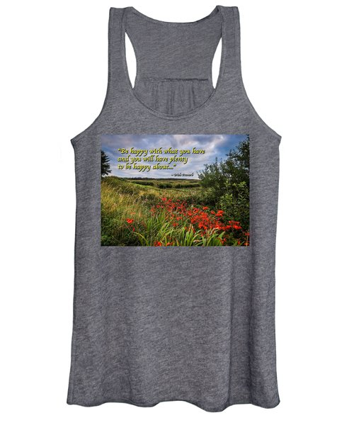 Women's Tank Top featuring the photograph Irish Proverb - Be Happy With What You Have... by James Truett