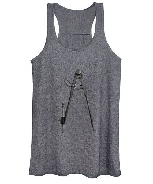 Iron Compass Backside In Bw Women's Tank Top