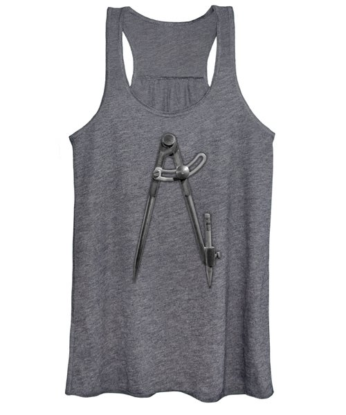 Iron Compass In Bw Women's Tank Top