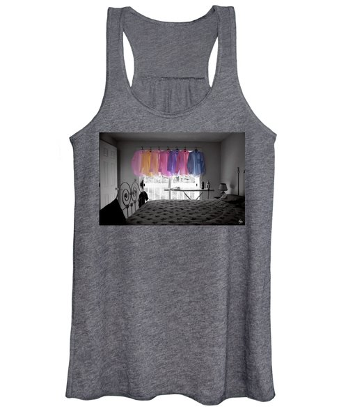 Ironing Adds Color To A Room Women's Tank Top