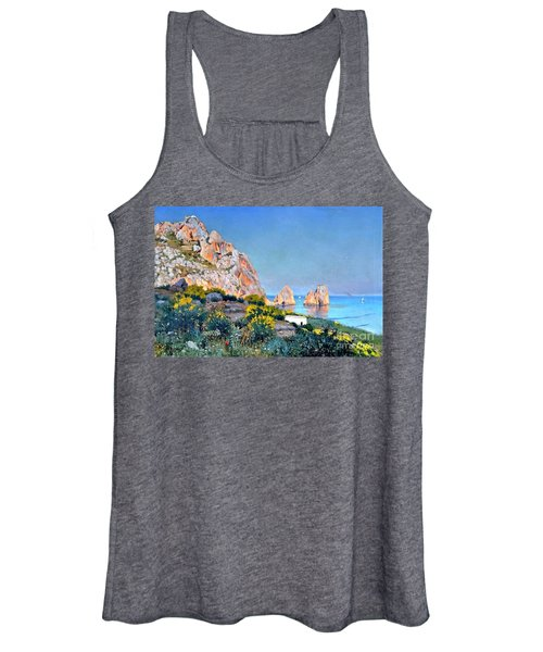 Island Of Capri - Gulf Of Naples Women's Tank Top