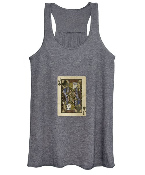 Jack Of Clubs In Wood Women's Tank Top