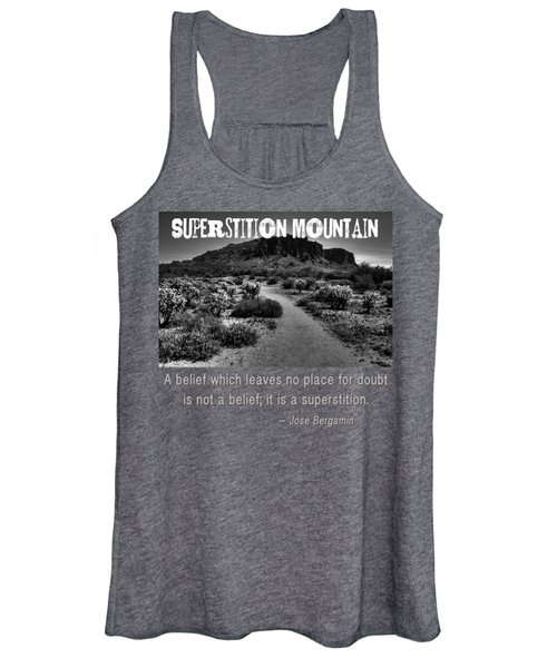 Jacobs Crosscut Trail In The Superstition Wilderness Women's Tank Top