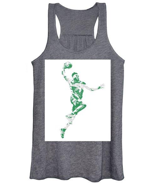 Jaylen Brown Boston Celtics Pixel Art 10 Women's Tank Top