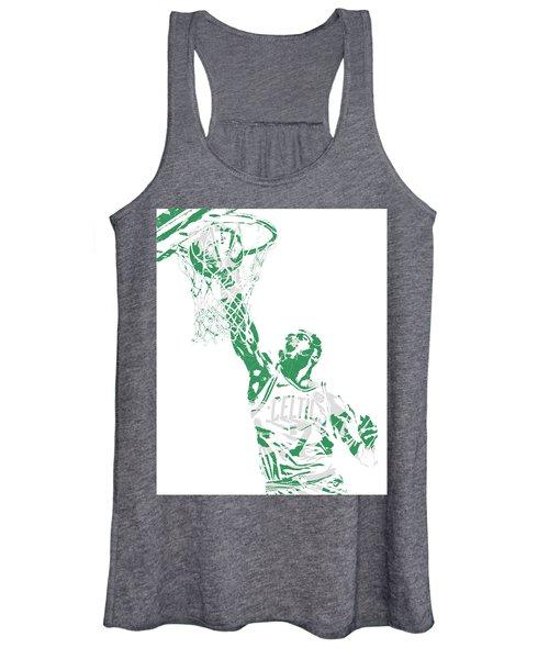 Jaylen Brown Boston Celtics Pixel Art 12 Women's Tank Top