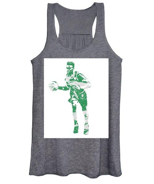 Jaylen Brown Boston Celtics Pixel Art 30 Women's Tank Top