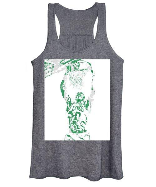 Jayson Tatum Boston Celtics Pixel Art 10 Women's Tank Top