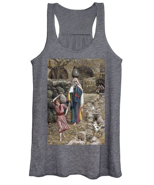 Jesus And His Mother At The Fountain Women's Tank Top