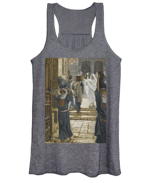 Jesus Forbids The Carrying Of Loads In The Forecourt Of The Temple Women's Tank Top