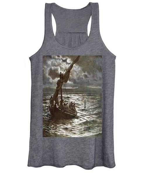 Jesus Walking Upon The Sea Women's Tank Top