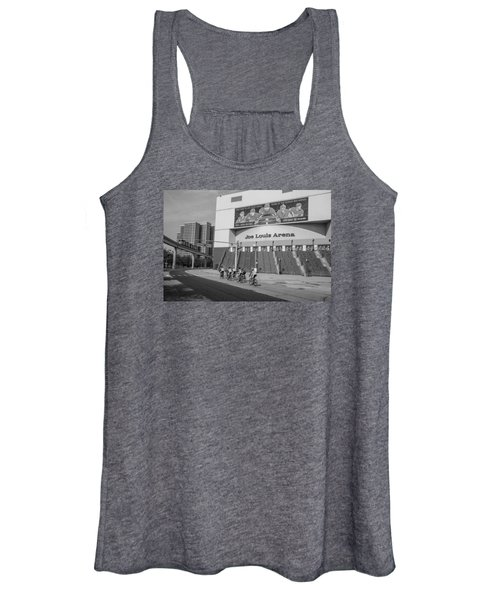 Joe Louis Arena Black And White With Bikers Women's Tank Top