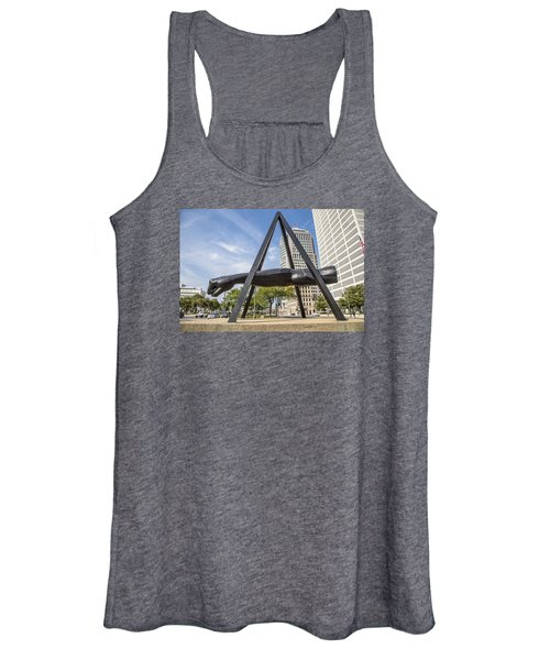 Joe Louis Fist In Detroit In Color  Women's Tank Top