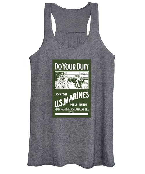 Join The Us Marines Women's Tank Top