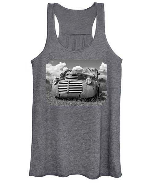 Just Resting - Vintage Gmc Truck Black And White Women's Tank Top