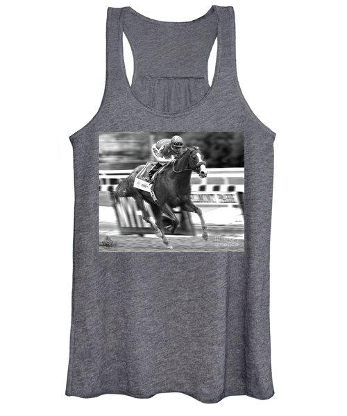 Justify, Belmont Stakes, Triple Crown, 2018 Women's Tank Top