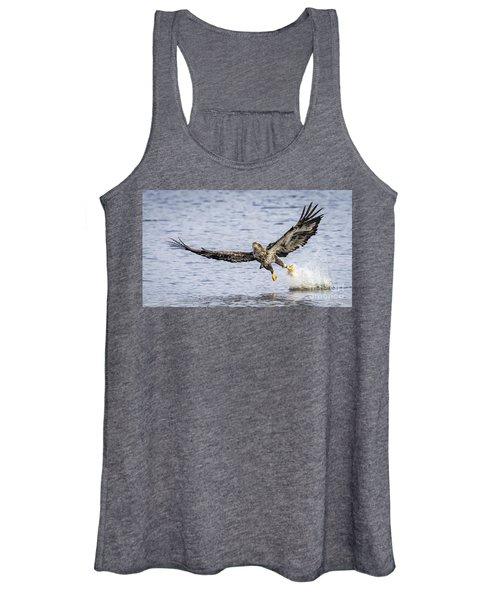 Juvenile Bald Eagle Fishing Women's Tank Top