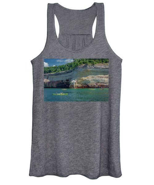 Kayaking The Pictured Rocks Women's Tank Top