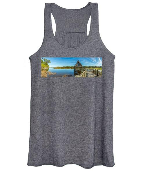 Kiawah Island Boathouse Panoramic Women's Tank Top