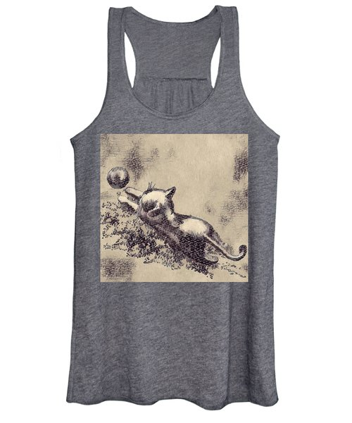 Kitten Playing With Ball Women's Tank Top