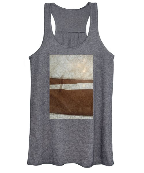 Kraft Paper And Screen Seascape Women's Tank Top