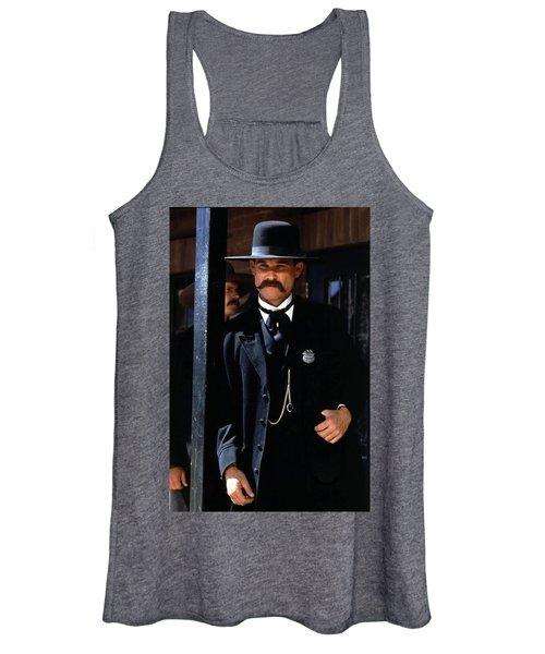 Kurt Russell As Wyatt Earp Tombstone Arizona 1993-2015 Women's Tank Top