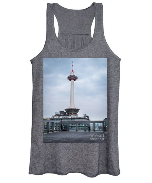 Women's Tank Top featuring the photograph  Kyoto Tower, Japan by Perry Rodriguez